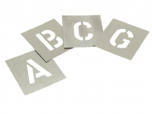 Zinc Plated Stencil Kits - Letters A-Z